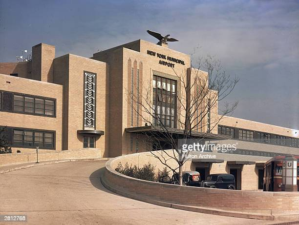 A view of the original terminal building at New York Municipal Airport renamed LaGuardia New York city circa 1940