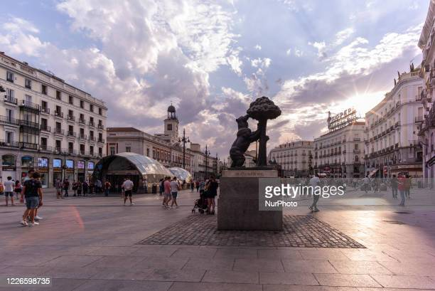 View of the Oso and Madrono at Puerta del Sol in the capital on July 12, 2020 in Madrid, Spain. The mayor of Madrid, José Luis Martínez-Almeida, has...