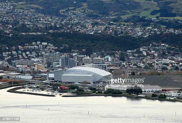 A view of the Otago Stadium on June 8 2015 in Dunedin New Zealand