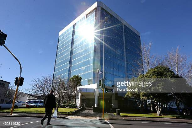 A view of the Otahuhu Police Centre where staff have contracted an illness suspected of being legionnaires disease at Harlech House on July 28 2014...