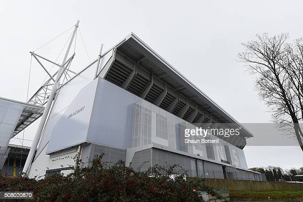 A view of the outside of Stade BollaertDelelis on February 2 2016 in Lens France