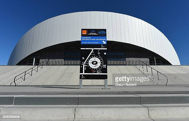 A view of the outside of Stade Velodrome on February 4 2016 in Marseille France