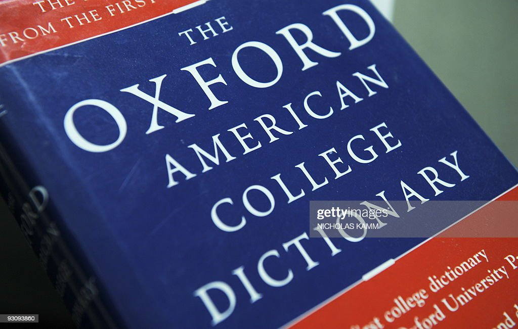View of the Oxford American College dict : News Photo