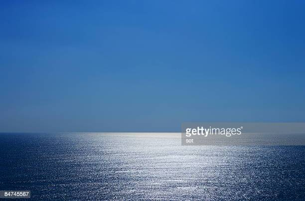 view of the pacific ocean - horizon over water stock pictures, royalty-free photos & images