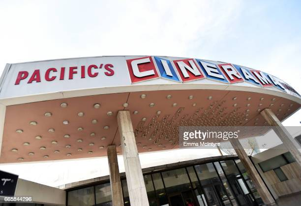 A view of the Pacific Theatres's Cinerama Dome at the screening of 'It's a Mad Mad Mad Mad World' during the 2017 TCM Classic Film Festival on April...
