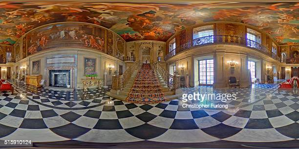 A 360 view of the Painted Hall at Chatsworth House on March 16 2016 in Chatsworth England Chatsworth House Garden and Farmyard opens on 19 March 2016...