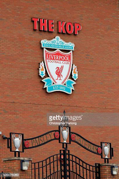 A view of the Paisley Gateway at Anfield the home of Liverpool Football Club on October 15 2010 in Liverpool England The future ownership of the...