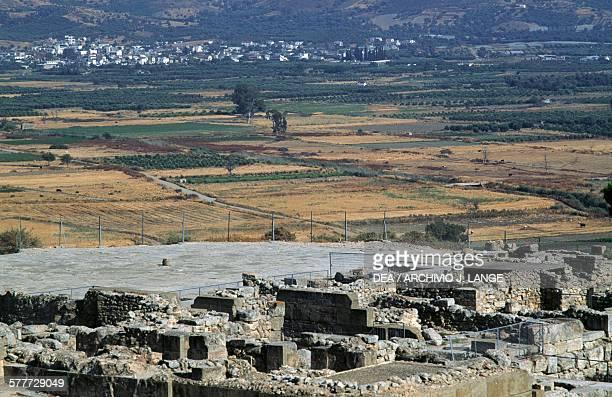 View of the palace main court Phaistos Crete Greece Minoan civilisation 17th15th century BC