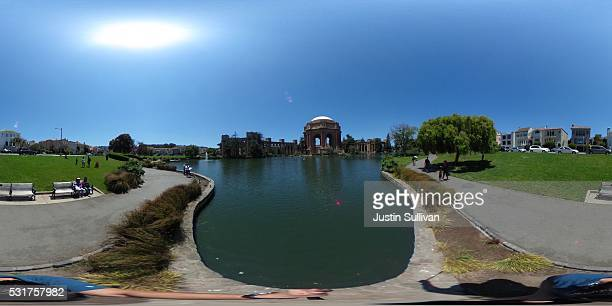 A 360 view of the Palace of Fine Arts on May 16 2016 in San Francisco California