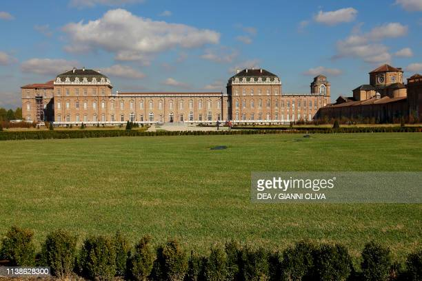 View of the palace of Venaria Reale Residence of the Royal House of Savoy Piedmont Italy 17th century