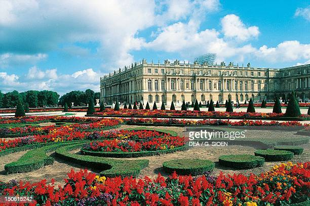 A view of the Palace of Versailles from the Parterre du Midi France