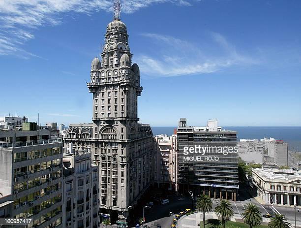 View of the Palacio Salvo in Montevideo, Uruguay, on May 29, 2008. The Palacio Salvo, built in 1928 and designed by Italian architect Mario Palanti,...