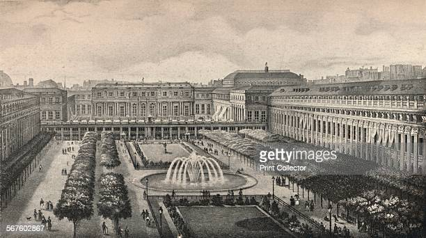 ' View of the PalaisRoyal in 1834 with the new gallery built by order of the Duke of Orleans ' 1915 From Paris Past and Present [London Offices of...