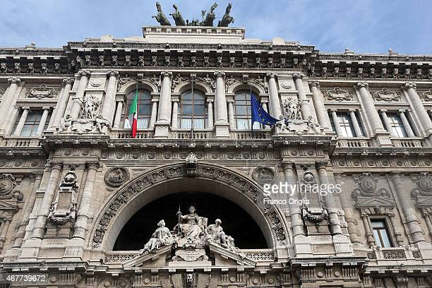View of the Palazzo di Giustizia courthouse during the last session for the final verdict of the Amanda Knox and Raffaele Sollecito murder retrial on...