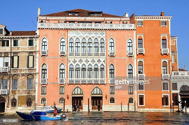View of the Palazzo Pisani Moretta on the Grand Canal in Venice on January 16 2010 prior a visit by Italian Prime Minister Silvio Berlusconi AFP...