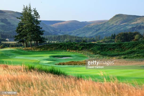 View of the par 4, first hole on the PGA Centenary Course at Gleneagles on August 12, 2019 in Auchterarder, Scotland.
