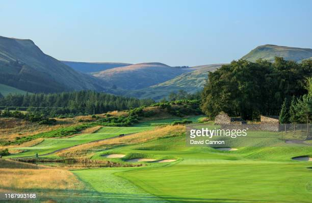 View of the par 5, second hole on the PGA Centenary Course at Gleneagles on August 12, 2019 in Auchterarder, Scotland.