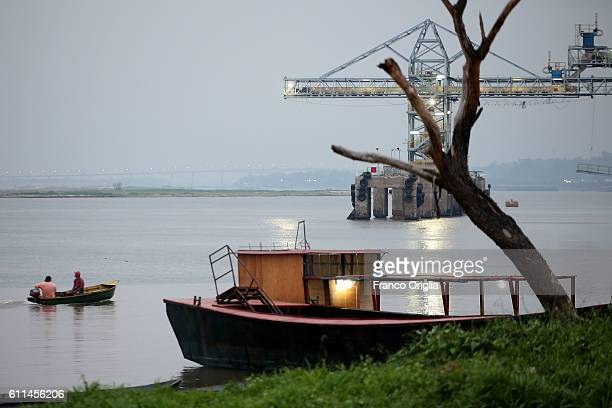 View of the Paraguay River on September 29, 2016 in Asuncion, Paraguay. Asuncion is one of the oldest cities in South America and the longest...