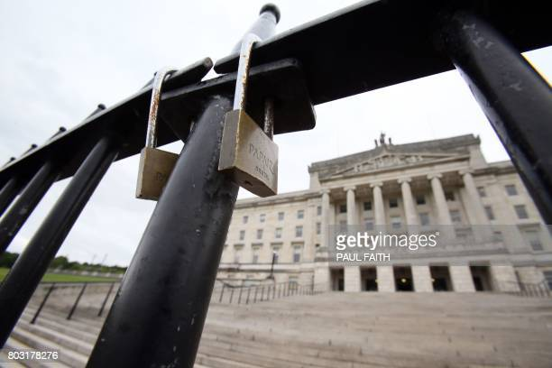 A view of Stormont castle seat of the Northern Ireland assembly in Belfast on June 29 2017 The prospects of reviving a powersharing government in...