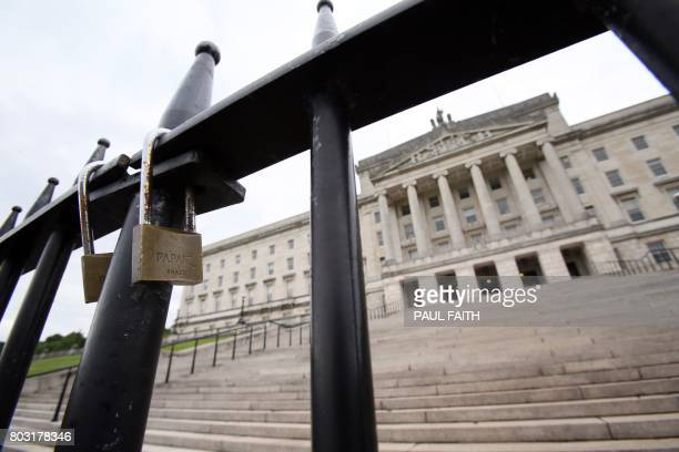 A view of the Parliament Buildings on the Stormont Estate seat of the Northern Ireland assembly in Belfast on June 29 2017 The prospects of reviving...