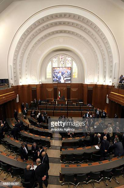 A view of the Parliament of Lebanon during the third round of presidential election on May 7 2014 in Beirut Lebanon Lebanese lawmakers on Wednesday...