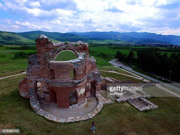 View of the partially restored unique and the only one in central and southeast Europe Red Church in BulgariaThe Red Church is a large partially...