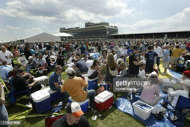 View of the party in the infield at the 131st Preakness Stakes at Pimlico Race Track in Baltimore, Maryland on Saturday, May 20th, 2006.