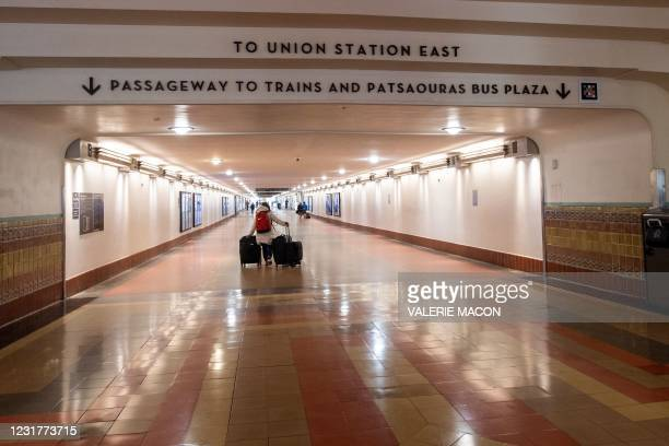 View of the passageway to the trains platforms of the Union Station, downtown L.A. Where part of the Oscars Ceremony will take place Sunday, April...