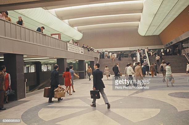 View of the passenger concourse of the newly constructed and rebuilt Gare Montparnesse part of the Tour Montparnasse development in Paris France...