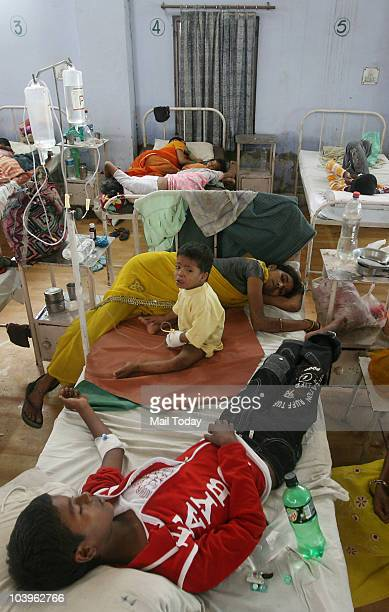 View of the Patients suffering from Viral fever and Dengue admitted in Noida District Hospital