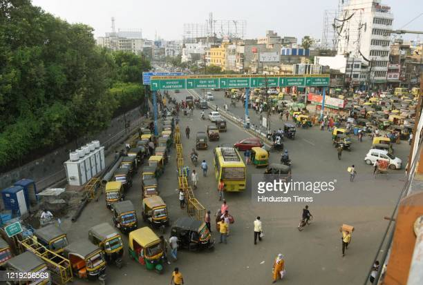 A view of the Patna Station auto rickshaw stand on June 10 2020 in Patna India