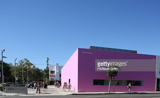 A view of the Paul Smith store on Melrose Avenue on July 15 2016 in Los Angeles California