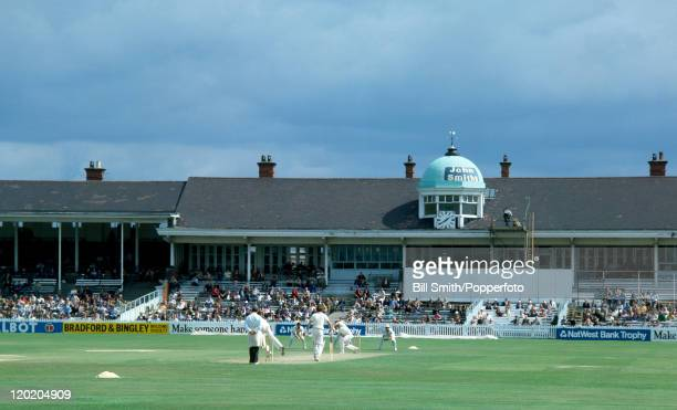 A view of the pavilion during the Natwest Trophy SemiFinal between Derbyshire and Essex at the Old Racecourse ground in Derby home of Derbyshire...