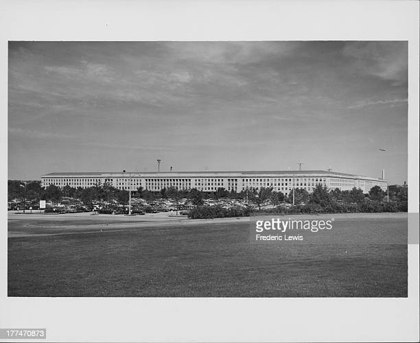 View of the Pentagon, the headquarters of the US Department of Defense, Washington D. C., circa 1930-1960.
