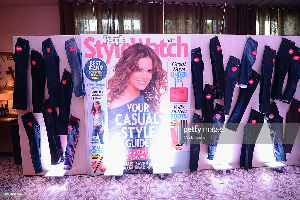 A view of the People StyleWatch display at the People StyleWatch Hollywood Denim Party at Palihouse on September 20, 2012 in Santa Monica, California.
