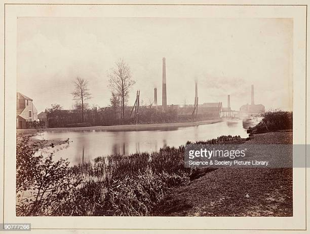 A view of the Perkin Sons dyestuff factory showing a bend in the Grand Junction Canal possibly taken by William Henry Perkin himself From a...