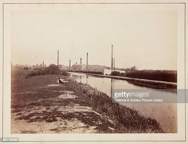 A view of the Perkin Sons dyestuff factory showing a straight section of the Grand Junction Canal possibly taken by William Henry Perkin himself From...