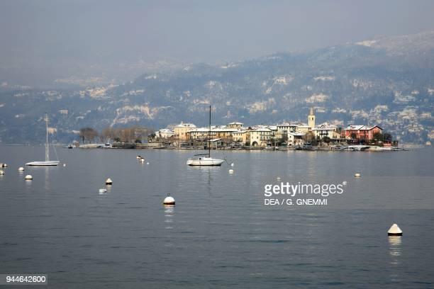 View of the Pescatori Island, Lake Maggiore, Borromean Islands, Stresa, Piedmont, Italy.