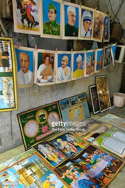 View of the Photo Poster and other materials of Hindu and Muslim Community in New Delhi India