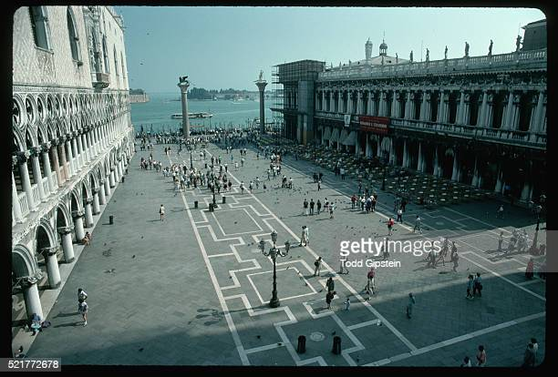 view of the piazzetta from basilica san marco - gipstein stock pictures, royalty-free photos & images