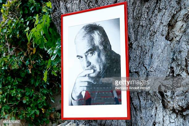 View of the Picture of JeanClaude Brialy before the 'La Venus a la Fourrure' Theater play during the 31th Ramatuelle Festival Day 7 on August 7 2015...