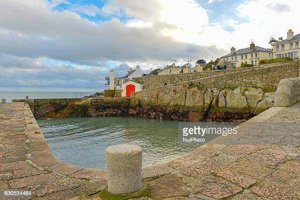 View of the picturesque Coliemore Harbour in Dalkey, seen on Christmas Day 2016. On Sunday, 25 December 2016, in Dublin, Ireland.