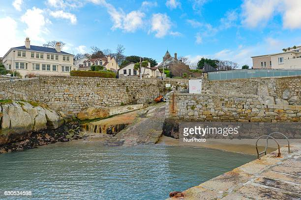 A view of the picturesque Coliemore Harbour in Dalkey seen on Christmas Day 2016 On Sunday 25 December 2016 in Dublin Ireland