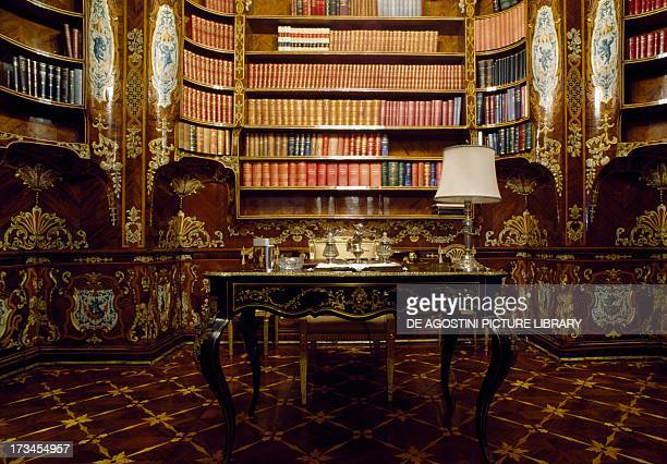 View of the Piffetti Library Quirinal Palace Rome Lazio Italy