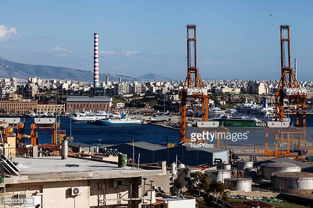View of the Piraeus Port and dock owned by COSCO Piraeus March 4 2015 China Ocean Shipping Company known as COSCO is the company in charge of...