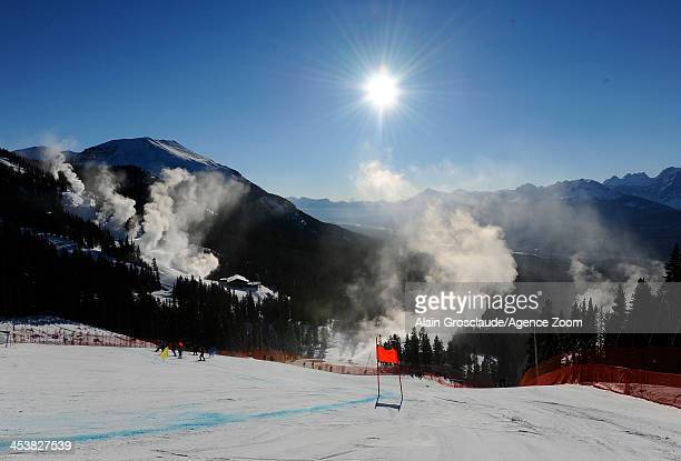 View of the piste during the Audi FIS Alpine Ski World Cup Women's Downhill Training on December 05 2013 in Lake Louise Canada
