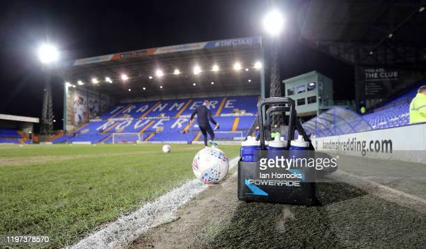A view of the pitch and stands before the Sky Bet League One match between Tranmere Rovers and Sunderland at Prenton Park on January 29 2020 in...