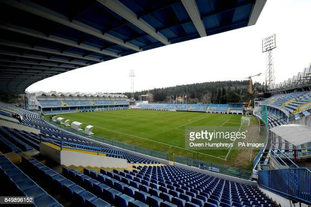 A view of the pitch at the City Stadium Podgorica Montenegro