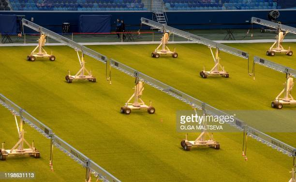 A view of the pitch of the Saint Petersburg Stadium on February 4 2020 Russia's Saint Petersburg is one of 12 locations across Europe scheduled to...