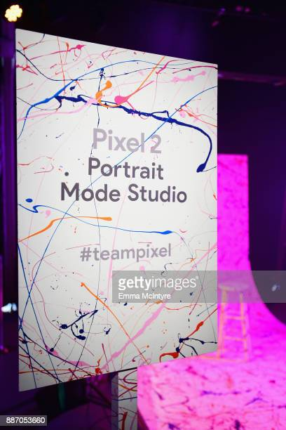 A view of the Pixel 2 Portrait Mode Studio at Refinery29's '29Rooms Los Angeles Turn It Into Art' on December 6 2017 in Los Angeles California